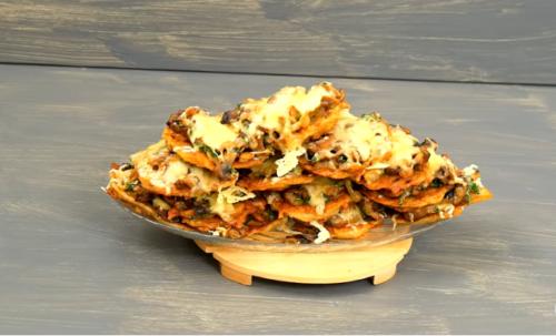 драники с грибами и сыром