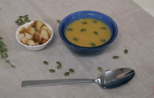 суп-пюре из картофеля и тыквы