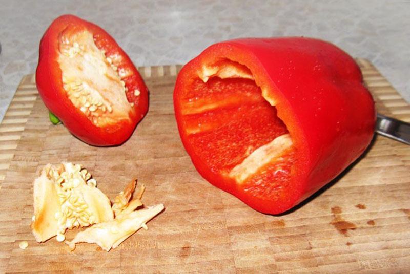 У перца удалить плодоножку