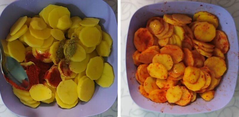 Влить в картошку подсолнечноемасло